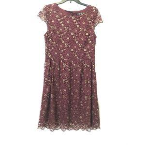 Maroon Lace Dress | Gianni Bini